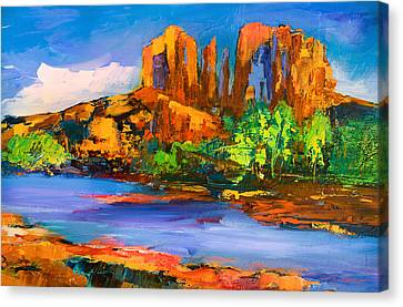 Cathedral Rock Afternoon Canvas Print by Elise Palmigiani