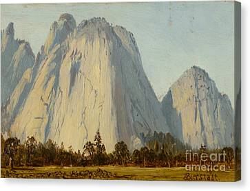 Cathedral Rocks  - Yosemite Valley Canvas Print by Celestial Images