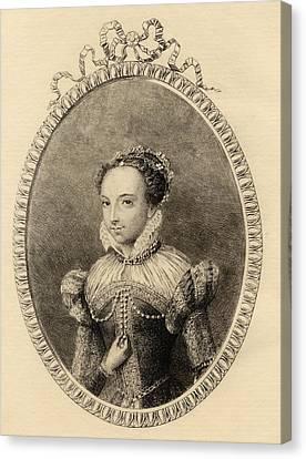 Catherine De Medici. Born Caterina Canvas Print by Vintage Design Pics