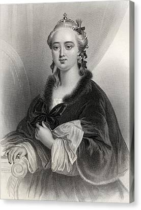 Catherine II, Catherine The Great Canvas Print by Vintage Design Pics