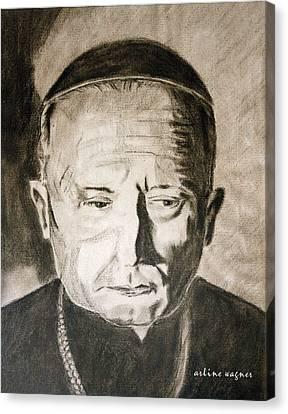 Catholic Cardinal Jozsef Mindszenty Canvas Print by Arline Wagner