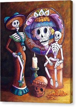 Catrina Group Canvas Print by Candy Mayer