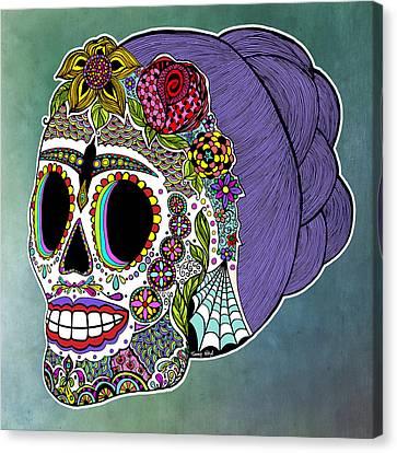 Catrina Sugar Skull Canvas Print by Tammy Wetzel