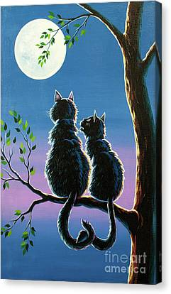 Cats In Love Canvas Print by Kristian Leov