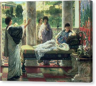 Catullus Reading His Poems Canvas Print by Sir Lawrence Alma Tadema