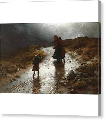 Cauld Blaws The Wind Frae East Canvas Print by MotionAge Designs