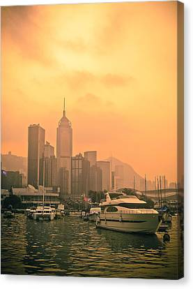 Causeway Bay At Sunset Canvas Print by Loriental Photography