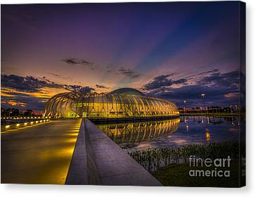 Causeway To Learning Canvas Print by Marvin Spates