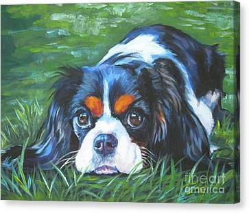 Cavalier King Charles Spaniel Tricolor Canvas Print by Lee Ann Shepard