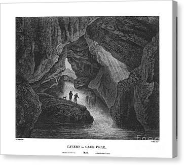 Cavern In Glen Crae  Canvas Print by James Fittler