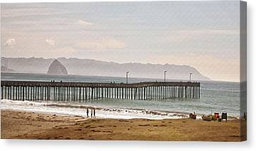 Caycous Pier II Canvas Print by Sharon Foster