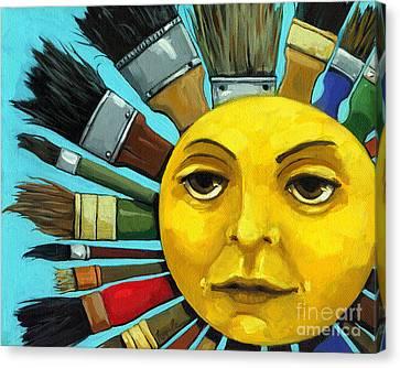 Cbs Sunday Morning Sun Art Canvas Print by Linda Apple
