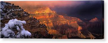 Canyon Dawn Canvas Print by Mikes Nature