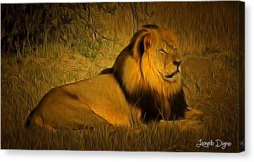 Cecil The Lion Canvas Print by Leonardo Digenio