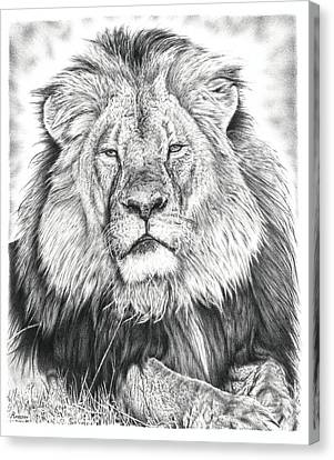 Cecil The Lion  Canvas Print by Remrov