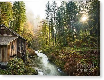 Cedar Creek Mill Light Canvas Print by Jamie Pham