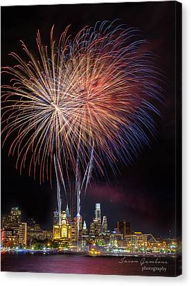 Celebrate Independence With Watermark Canvas Print by Jason Gambone