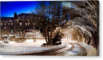 Celebrate The Winter Night Canvas Print by Karen Wiles