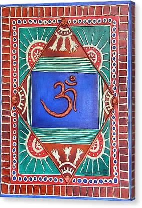 Celebrating Om Canvas Print by Sandhya Manne