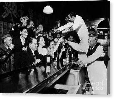 Celebrating The End Of Prohibition Canvas Print by American School