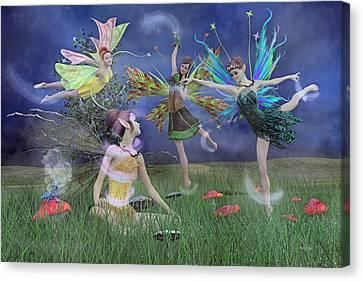 Celebration Of Night Alice And Oz Canvas Print by Betsy Knapp