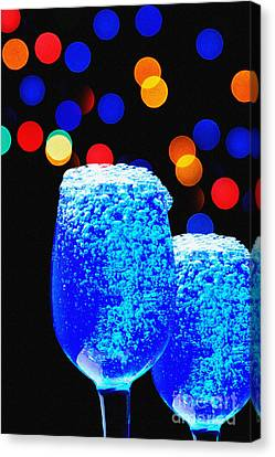 Celebrations With Blue Lagon Canvas Print by Manjot Singh Sachdeva