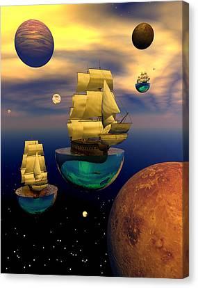 Celestial Armada Canvas Print by Claude McCoy