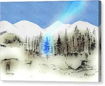 Celestial Beam Canvas Print by Arline Wagner