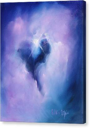 Celestial Heart Canvas Print by Sally Seago