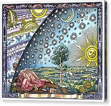 Celestial Mechanics, Medieval Artwork Canvas Print by Detlev Van Ravenswaay