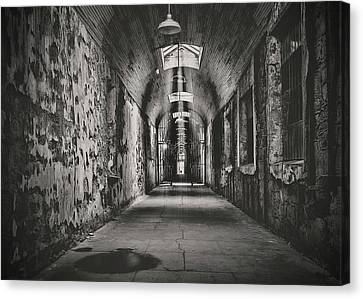 Cell Block 1 Bw Canvas Print by Heather Applegate