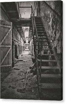 Cell Block 6 Bw Canvas Print by Heather Applegate