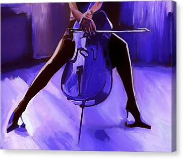 Cello Canvas Print by Vel Verrept