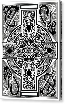 Celtic Cross Tapestry Canvas Print by Morgan Fitzsimons