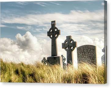 Celtic Grave Markers Canvas Print by Natasha Bishop