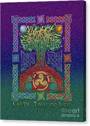 Celtic Tree Of Life Canvas Print by Kristen Fox