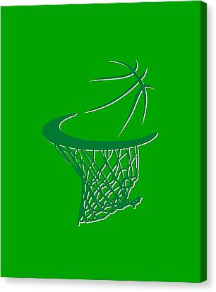 Celtics Basketball Hoop Canvas Print by Joe Hamilton