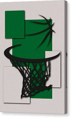 Celtics Hoop Canvas Print by Joe Hamilton