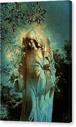 Cemetery Angel Canvas Print by Susanne Van Hulst