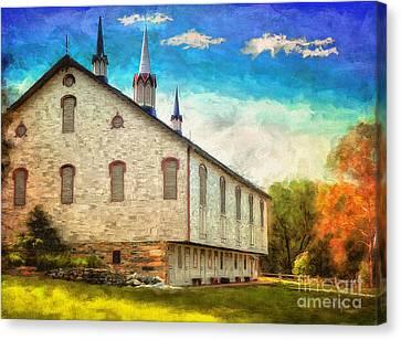 Centennial Barn Canvas Print by Lois Bryan