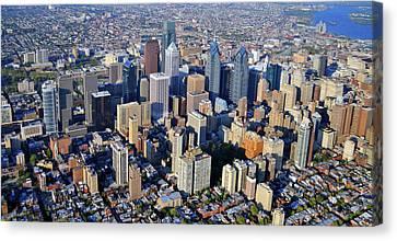 Center City Philadelphia Large Format Canvas Print by Duncan Pearson