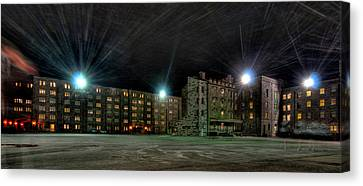Central Area At Night Canvas Print by Dan McManus