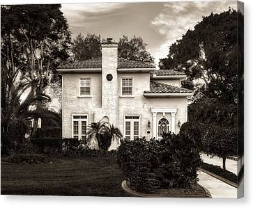Central Florida Mediterranean Style Home - 1926 Canvas Print by Frank J Benz