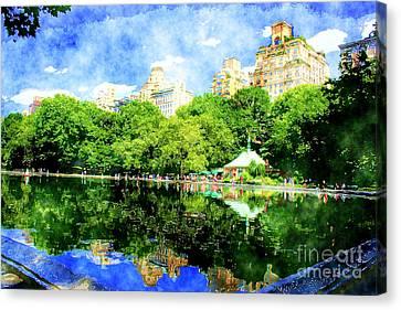 Central Park Canvas Print by Julie Lueders