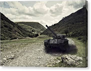 Centurion Tank In Valley Canvas Print by Amanda And Christopher Elwell