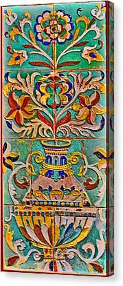 Ceramic Panel. Canvas Print by Andy Za