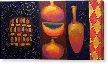 Ceramics Canvas Print by Aliza Souleyeva-Alexander