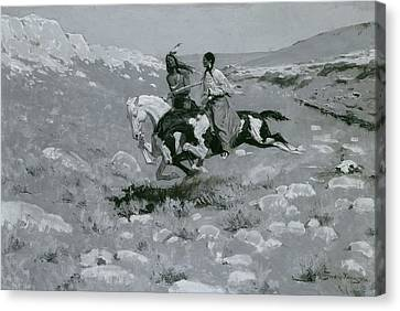 Ceremony Of The Fastest Horse Canvas Print by Frederic Remington