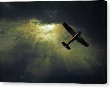 Cessna 172 Airplane Canvas Print by photograph by Anastasiya Fursova