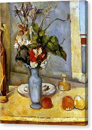Cezanne: Blue Vase, 1885-87 Canvas Print by Granger